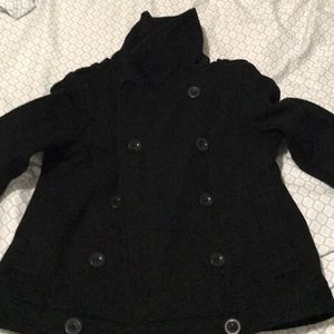 Black old navy short coat